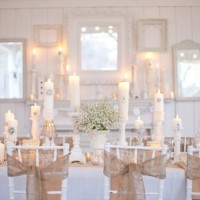 Casamento branco e bege