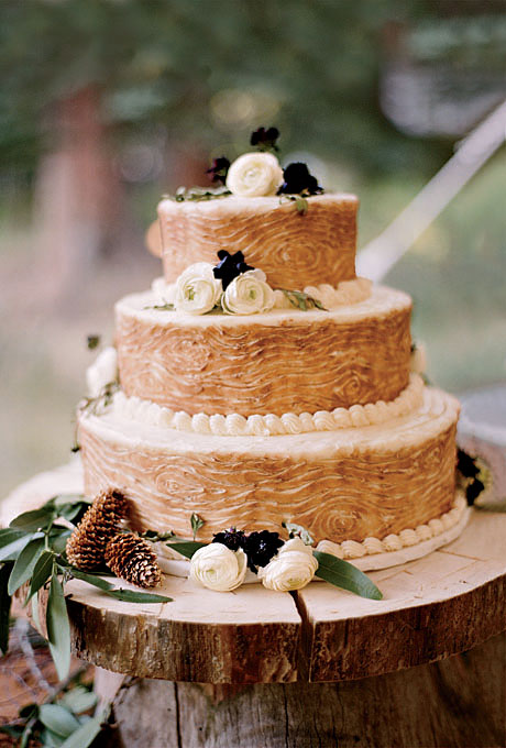 Rustic Wedding Cake Platters