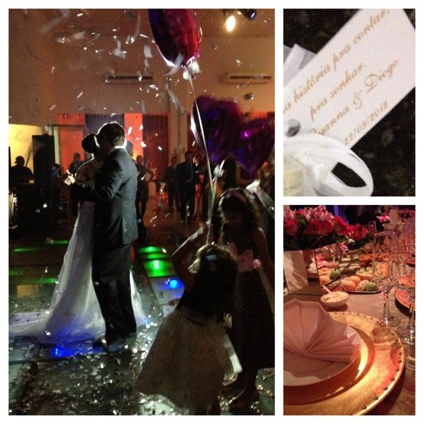 Noivos e festa