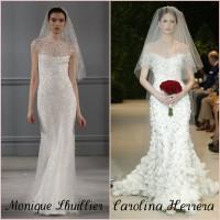 Tendência NY Bridal Week. Vestidos de noiva com brilho