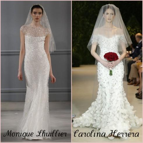 Vestidos de noiva com brilho