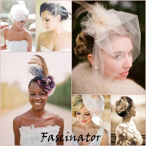 Casquete e fascinator