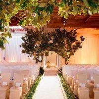 Casamento branco, prata e dourado