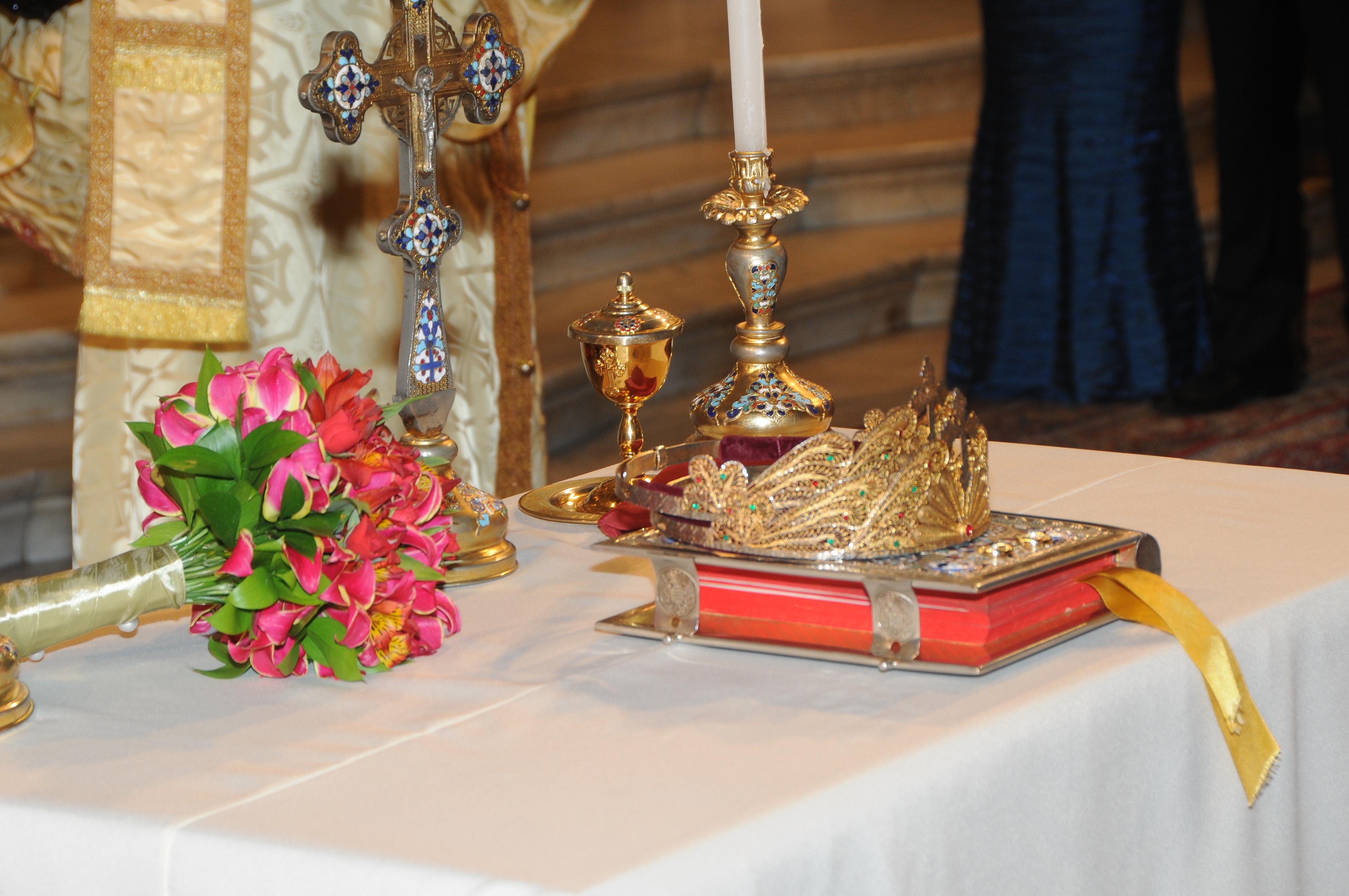 Altar com materia litúrgicos