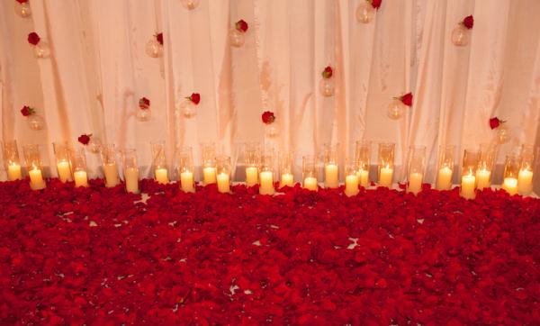 Casamento vermelho e dourado  Noiva de Evasê  Blog de Casamento