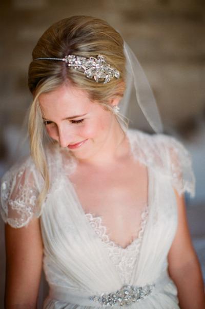 Na cabeça da noiva